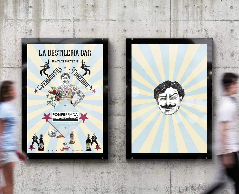 Posters para bares Vermouth forzudo