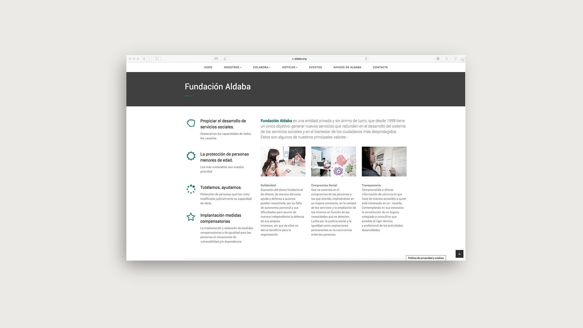 Web Fundación Aldaba